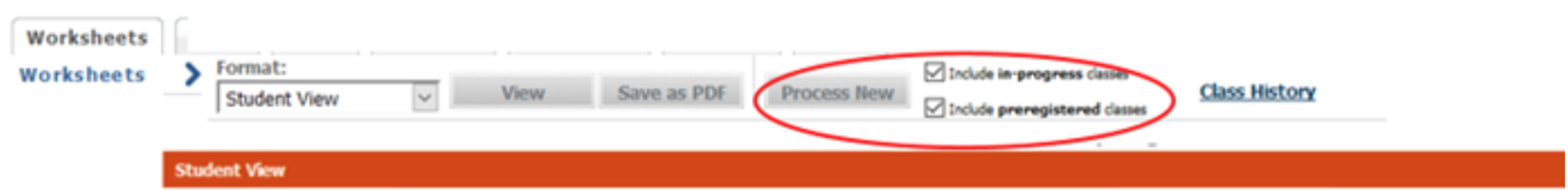"""Process New"" button on Degree Works audit"